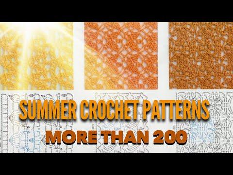 Узоры крючком: более 200 лучших схем 👍❤️/ SUMMER CROCHET PATTERNS: More Than 200