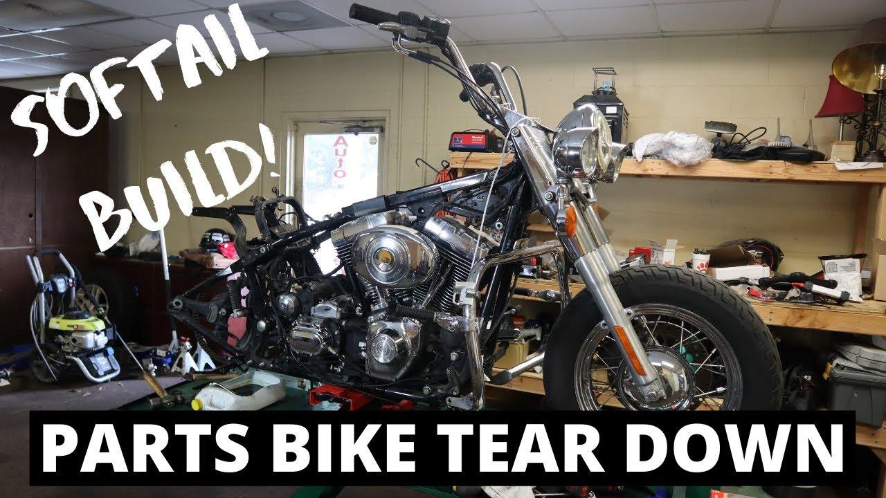 Heritage Softail Parts Bike Teardown l Part 9 l Budget Rebuilds
