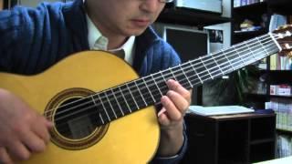 山ねずみロッキーチャックの主題歌「緑の陽だまり」をソロギターに編曲...