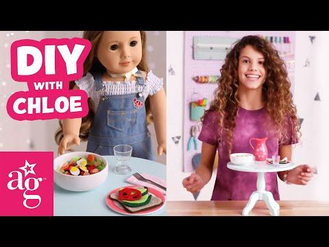 Create A Yummy Mini Meal For Your American Girl Doll!   Doll DIY   American Girl