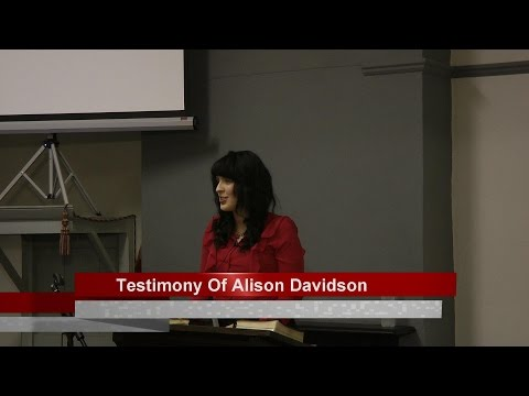 Testimony Of Alison Davidson