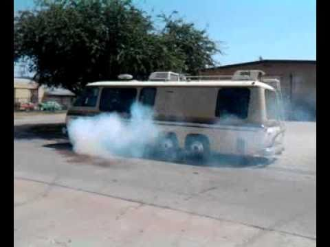 1976 GMC motorhome burnout