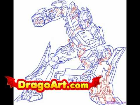 How To Draw Optimus Prime Step By Step Youtube