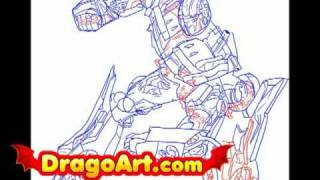How to draw Optimus Prime, step by step
