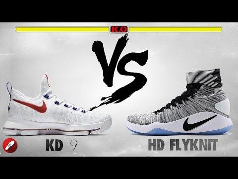 975143f84ed Nike Kd 9 vs Nike Hyperdunk 2016 Flyknit!