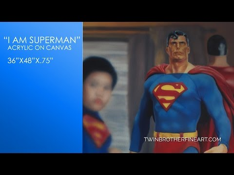 "Airbrush Time Lapse Speed Painting ""I Am Superman"" Complete"