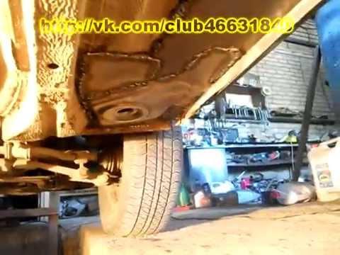 Ваз 2110. Замена порогов.  Кузовной ремонт.