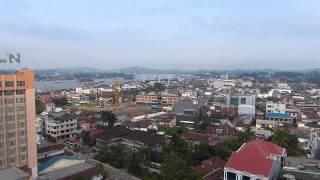 Samarinda East Borneo Indonesia from the Aston Hotel
