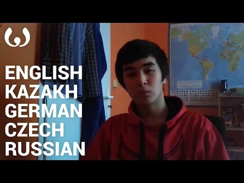 WIKITONGUES: Abdurrahim speaking English, Kazakh, German, Czech, and Russian