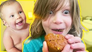 Axel Goes Bananas Over Banana Muffins!
