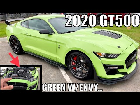 In DETROIT w/ GRABBER LIME 2020 SHELBY GT500!