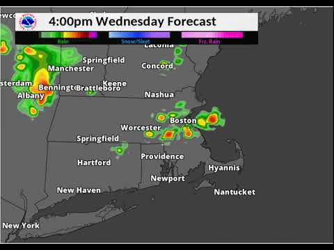 Hot, humid with chance of severe thunderstorms in Massachusetts Wednesday