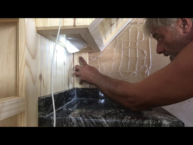 RV Trailer Build #104 - Installed Tongue and Groove & Stainless Hardware on Solar Panel Brackets