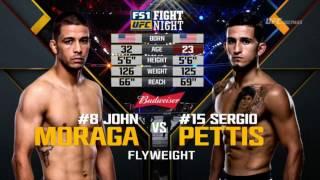 SERGIO PETTIS VS JOHN MORAGA