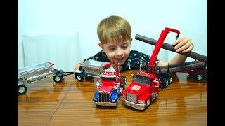 Грузовик МАК длинный прицеп Лесовоз Camion MAK with a long Hauler Timber carrier