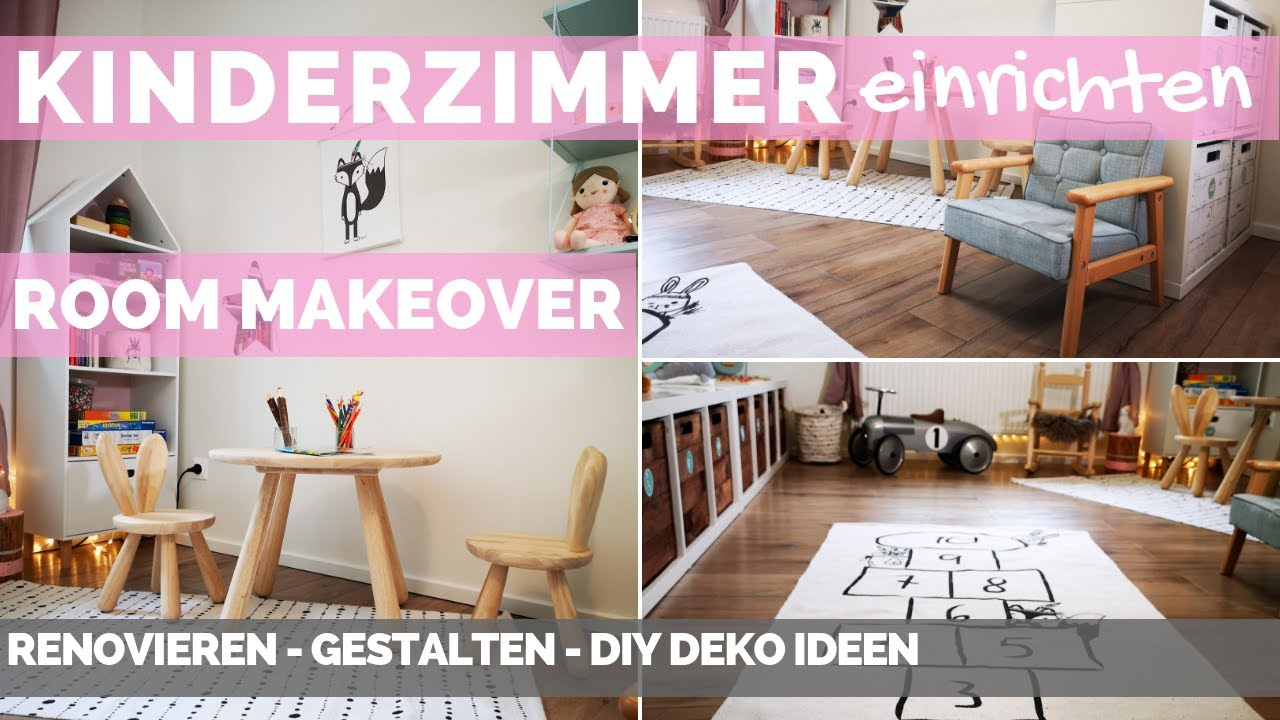 Kinderzimmer gestalten - dekorieren - einrichten - Spielzimmer renovieren -  DIY Deko Ideen & Tipps