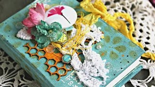 Декорирование обложки блокнотика \ Decorating the cover of the notebook