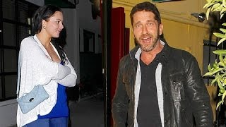 Gerard Butler Wards Off Young Lady At Dan Tana