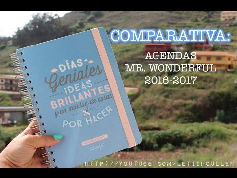 PROS Y CONTRAS AGENDAS MR. WONDERFUL 2016-2017 || LetiihCullen♡;