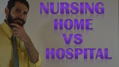 Difference between Working as a Nurse in a Hospital vs Nursing Home