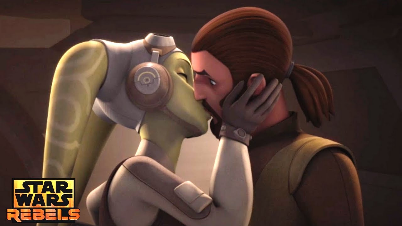 Image result for kanan jarrus hera kiss