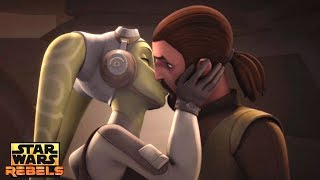 Star Wars Rebels: Kanan and Hera Kisses