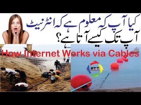 How Internet works via cables? /Internet History in Hindi/Urdu