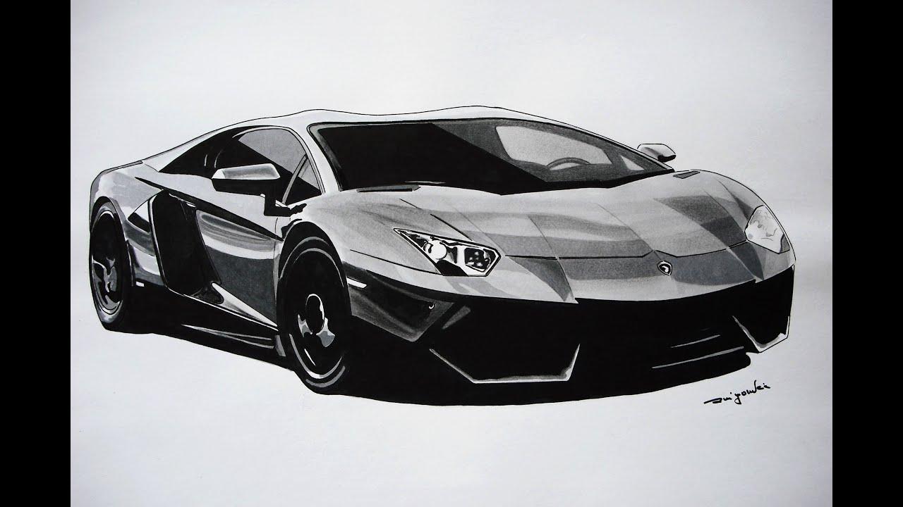 Lamborghini Aventador - 3D Art - (speed drawing) by Rui ...