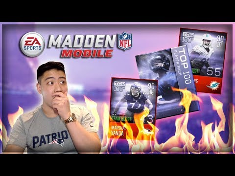 Madden Mobile 18 NFL TOP 100 Bundle Opening!! FIRE PULLS!!