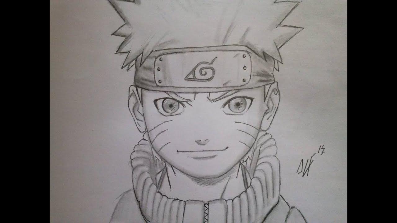 DIBUJO NARUTO. Naruto Speed Drawing, Dibuja Rapido A Naruto. Como Dibujar A Naruto A Lapiz