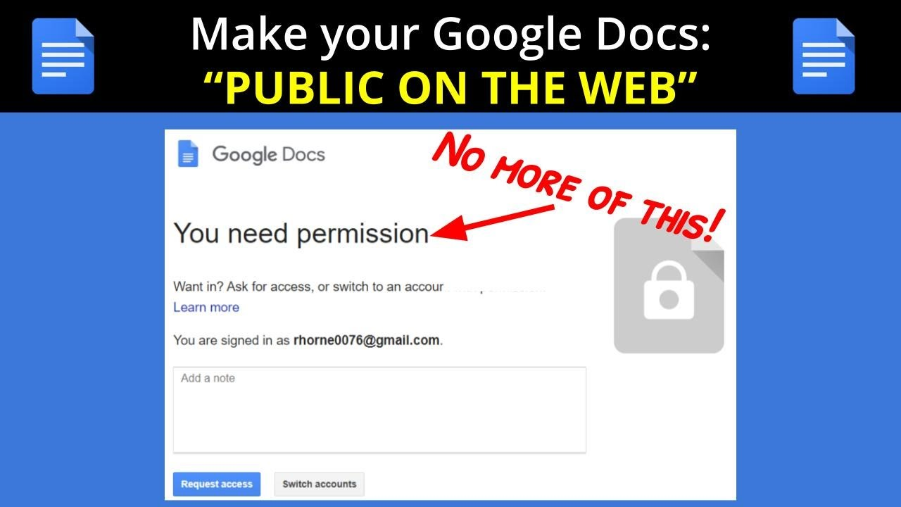 How To Make A Google Doc Public 14 Steps With Pictures
