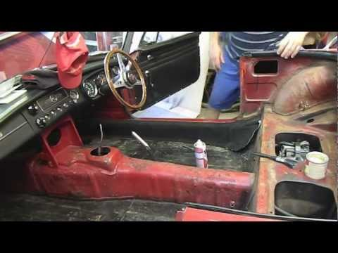 Replacement Leather Seat Covers >> MGB Seat Cover and Carpet Replacement Part 2 (Final ...