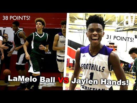 LaMelo Ball VS Jaylen Hands! Chino Hills VS Foothills Christian FULL HIGHLIGHTS