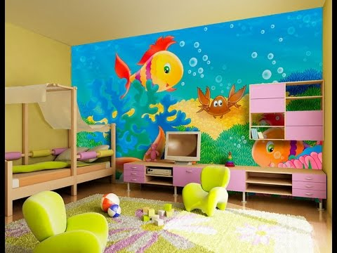 Amazing interior design for kids room color combination paint 2015 youtube - Colors for kids room ...