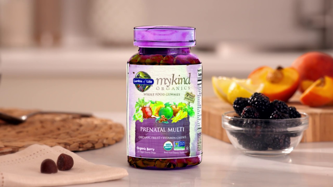 Mykind Organics Prenatal Multi Gummies Berry Flavor 120 Vegan Gummies Youtube