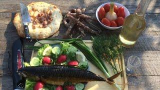 Дегустация бородинской настойки, копченой скумбрии и домашней колбасы