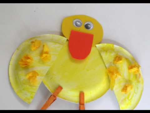 Preschool Paperplate Art Duck Youtube