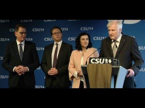 CSU: Horst Seehofer präsentiert neue Minister und sein Heimatministerium