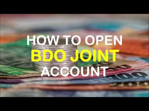 How to Apply for BDO Joint Account
