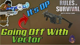 *Vector Is OP* Going Off With Vector + Using Stormwarrior 😋 In #RulesOfSurvival - Insane Kills😋