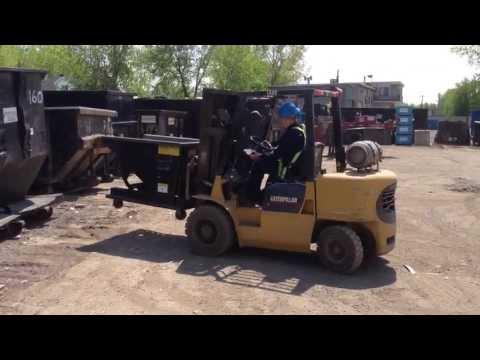 Globe Metal dumping hopper demonstration