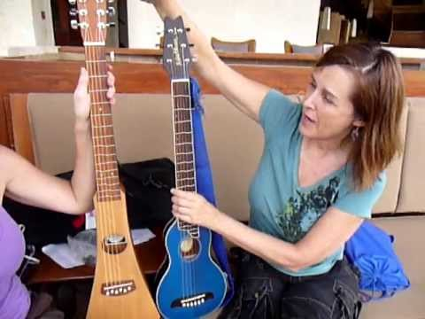 Martin and Washburn travel guitar comparison by Jana Stanfield