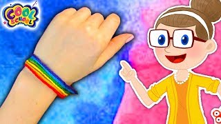 DIY Rainbow Friendship Bracelets | Crafty Carol Crafts | DIY Crafts for Kids | Cool School