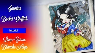 { Prismacolor pencil Tutorial} Loup-Garou: Blanche Neige, Snow White by Jasmine Becket-Griffith