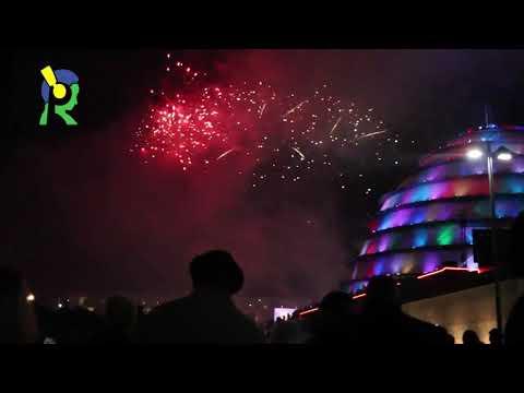 Isura ya Kigali Convention Center igihe haraswaga umwaka