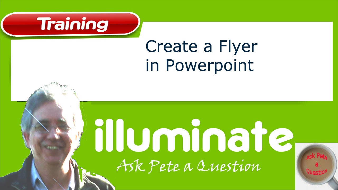 how to make a flyer in powerpoint