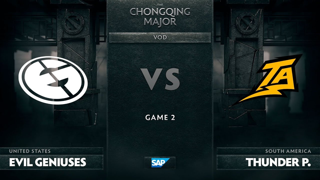 [EN] Evil Geniuses vs Thunder Predator, Game 2, The Chongqing Major LB Round 2