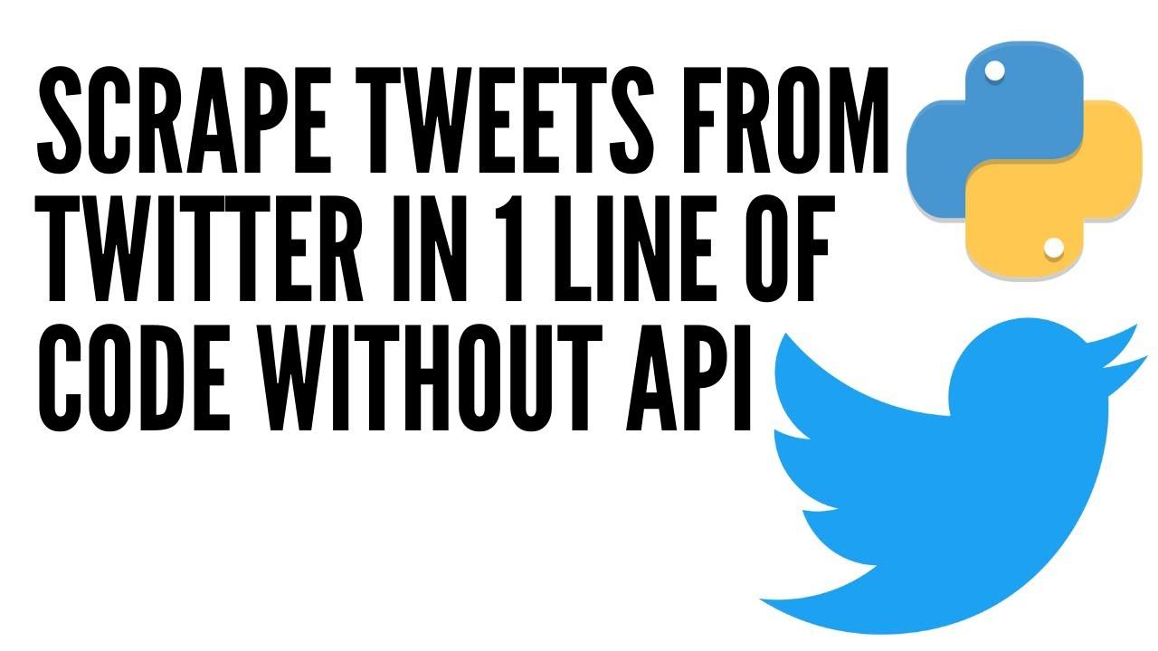 Scrape Twitter Data or Tweets in Python using snscrape module