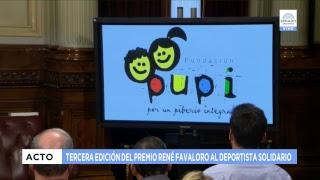 TERCERA EDICIÓN DEL PREMIO RENÉ FAVALORO AL DEPORTISTA SOLIDARIO 11-12-18