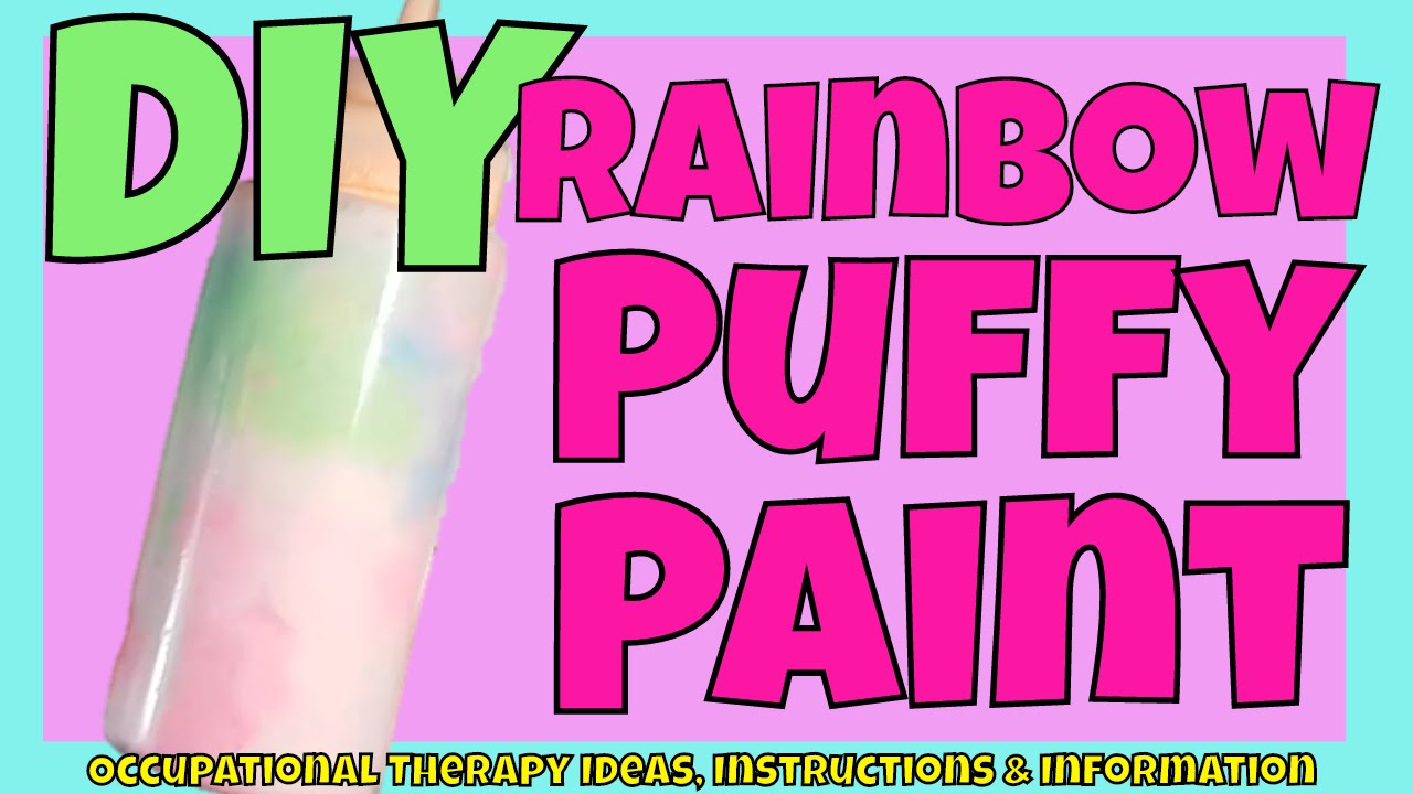 diy rainbow puff paint squeeze bottle fine motor hand strength learn letters shapes numbers